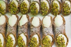 Italian Cannoli Authentic Italian cannoli recipe that will leave you mesmerized.Authentic Italian cannoli recipe that will leave you mesmerized. Köstliche Desserts, Italian Desserts, Italian Recipes, Dessert Recipes, Cinnamon Desserts, Italian Foods, Pastry Recipes, Health Desserts, Plated Desserts