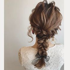 Dinner Hairstyles, Messy Hairstyles, Wedding Hairstyles, Hair Arrange, Japanese Hairstyle, Braided Hairstyles Tutorials, Stylish Hair, Dream Hair, Hair Ornaments