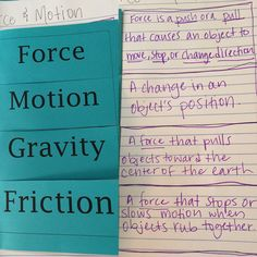 yesterday we continued our unit on force and motion. The five forces we learn about in fourth grade are push, pull, Gravity, magnetism, and friction. Ask your child to show you their hand motion for...