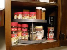 Lazy Susan Spice Rack Stunning What To Store On A Lazy Susan Cabinet  Google Search  Kitchen Decorating Inspiration