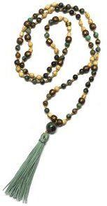 Energy Muse Green Tara Mala Yoga Jewelry Necklace - 8142747
