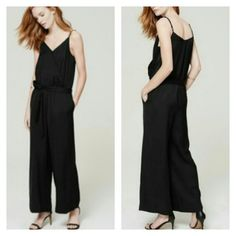 NWT Loft Culotte Jumpsuit small Brand new Culotte jumpsuit,  rayon & linen blend,  side pockets, wrap front with detachable sash for belt. Wide cropped legs- 24 inch inseam.  Fits 4/6 LOFT Pants Jumpsuits & Rompers