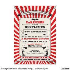 Steampunk Zirkus Halloween Party Einladung 12,7 X 17,8 Cm