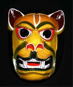"""Extra 50% Off Hand Carved Decorative Mask Original Art Wood Sculpture WM_LION_XLG1 by Great Gift Ideas Etc. $149.95. Genuine hand carved vibrant colorful wooden wall decorative mask. FREE SHIPPING SPECIAL. Reproduction of a Pre-Columbian lion that is about 17"""" tall and 12"""" wide and weighs over 4 pounds. This work of art is very unique - makes a great gift. Authentic indigenous art hand created and signed by Ecuadorian master mask maker Jose Guamangate. These glowing h..."""