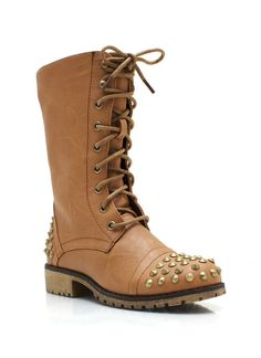 Hot Studded Combat Boots