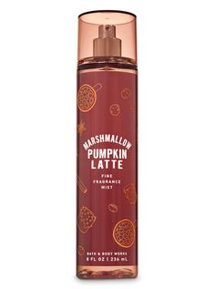 Marshmallow Pumpkin Latte Fine Fragrance Mist by Bath & Body Works - Laura Home Perfume Diesel, Bath Body Works, Bath And Body Works Perfume, Make Up Tools, Perfume Parfum, Chance Chanel, Bath And Bodyworks, Beauty, Body Spray