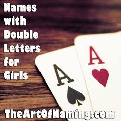 The Art of Naming: Annabelle, Juliette & Tessa: The Best Double-Letter Girl Names