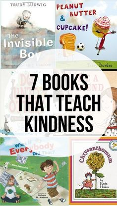 7 books that teach kindness to children - perfect for the beginning of a new school year.