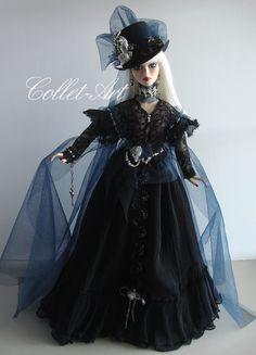 "https://flic.kr/p/x5dJtK   Tonner Wilde Imagination 18.5"" Evangeline Ghastly Parnilla OOAK Fashion ""Out of the Darkness"" Collet-Art"