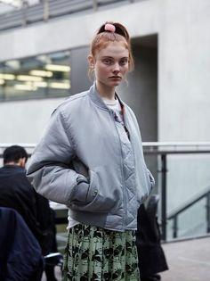 Georgie Hobday (Fashion History and Theory) wears Christopher Kane. Photography by Laurence Ellis, Styling by Olga Kuryshchuk.