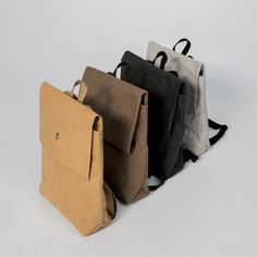 Chocolate Urban Backpack Brown Unisex Women Men Bag Eco Friendly Vegan Ecobag Rucksack Streetstyle Laptop Backpack Washable Kraft Paper || IGOR YORK via Etsy