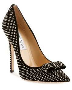 "Jimmy Choo ""Maya"" Suede Studded Pump"