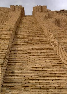 Main staircase of the Ziggurat of Ur, Iraq I Founded:Approximately 21st century BC