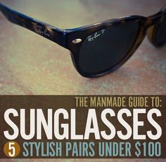 The ManMade Guide to Sunglasses: 5 Stylish Pairs Under $100