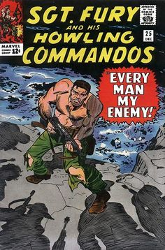 Sgt. Fury And His Howling Commandos #25, December, 1965 - artist Jack Kirby