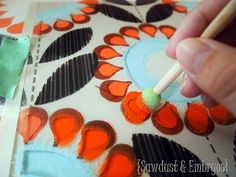 Layered stenciling paint technique tutorial - DIY Home by stormiii