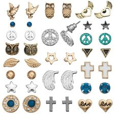 SO Triangle, Peace Sign, Star, Cross, Heart, Bird, Owl, Leaf & Feather... ($11) ❤ liked on Polyvore featuring jewelry, earrings, black, star stud earrings, stud earrings, leaf earrings, heart earrings and black feather earrings