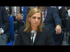 La infanta Cristina solo declara ante su abogado en el juicio por el caso Nóos - YouTube