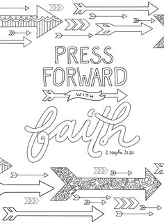 "just what i {squeeze} in: ""Press Forward with Faith"" -- coloring page #3"
