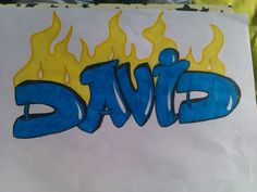 made this one for the tumblr boy david rodriguez. he asked me to draw his name