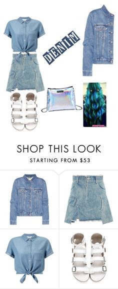 """""""Denim on point"""" by leoni-pamella ❤ liked on Polyvore featuring Acne Studios, Sandy Liang and Miss Selfridge"""