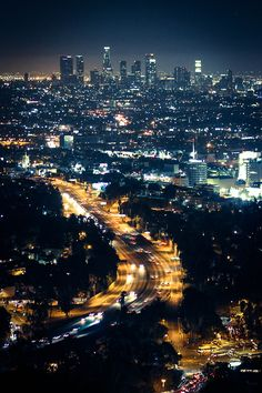 photography beautiful night city lights Los Angeles california