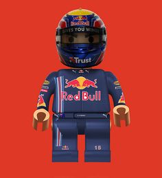 Mark 'Lego' Webber    Mark Webber in Lego Form