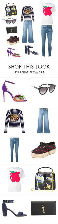 """""""Mismatch..**"""" by yagna ❤ liked on Polyvore featuring Jimmy Choo, Marc Jacobs, Gucci, RED Valentino, rag & bone/JEAN, Alice + Olivia, Peter Jensen, Maria Brito, Stuart Weitzman and Yves Saint Laurent"""