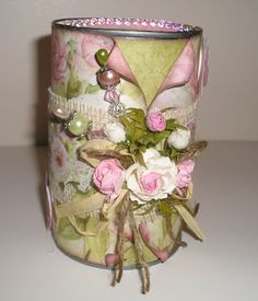 Cissy's Creations of Love: Shabby Chic Altered Soup Can