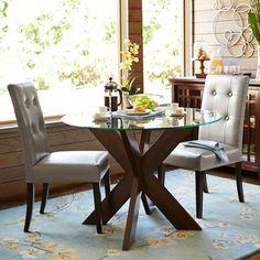 Simon Espresso X Dining Table Base. Glass Top Dining TableGlass TablesRound  ...