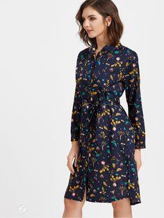 09c726cfc1 Vzorované košeľové šaty s opaskom - ZUNIQUE.sk - Štýlove oblečenie