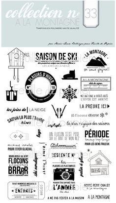 MATERIEL > Tampons > Marie-Laure Bollinger pour Feuille de papier > Collections N° 33 A la montagne - Feuille de papier - Kits en ligne