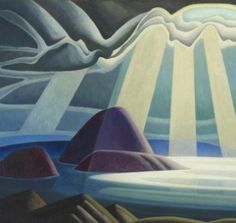 Maligne Lake 1924 by Lawren Stewart Harris Group Of Seven Art, Group Of Seven Paintings, Vancouver Art Gallery, Art Gallery Of Ontario, Canadian Painters, Canadian Artists, Art Gallery Of Hamilton, Art Cart, Mountain Paintings