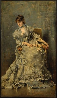 Alfred Stevens, The Attentive Listener, 1879 #art #painting