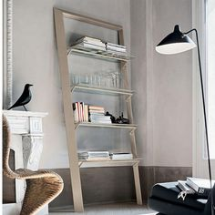 Contemporary Ladder Bookcase Modern I Ultramodern Design Modest Colours Durable And Reliable Materials