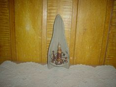 Primitive Wooden Candle Holder Grubby Candle Stick Berry Ring etsy 200 by thefarmladyscupboard on Etsy