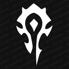 World of Warcraft Horde Faction Symbol Vinyl Decal