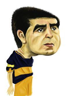 Juan Roman Riquelme, fino mediocampista de Boca Juniors de Argentina.