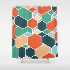 Textile Patterns, Print Patterns, Textile Design, Textiles, Colorful Shower Curtain, Graphic Design Pattern, Pattern Designs, Throw Rugs, Fabric Art