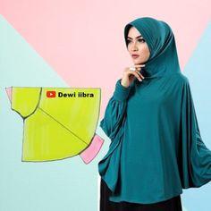 Diy Fashion Hats, Niqab Fashion, Fashion Sewing, Lingerie Patterns, Dress Sewing Patterns, Clothing Patterns, Stylish Dress Book, Abaya Pattern, Instant Hijab