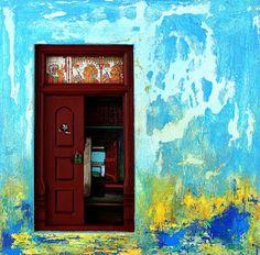 A door painting by Santhana Krishnan