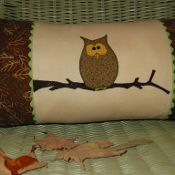 Hooty Owl Pillow - via @Craftsy