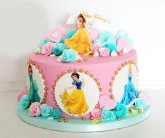 Princess Torte, Princess Theme Cake, Disney Princess Birthday Cakes, Princess Cake Toppers, 4th Birthday Cakes, Frozen Birthday Cake, Princess Belle Cake, Chateau Princesse Disney, Bolo Barbie