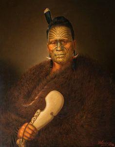 Tawhiao Potatau Te Wherowhero the second Maori King Gottfried Lindauer Maori Tattoos, Maori Face Tattoo, Tattoos Bein, Marquesan Tattoos, Face Tattoos, Borneo Tattoos, Thai Tattoo, Tribal Tattoos, Polynesian Art