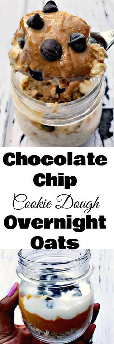 Chocolate Chip Cookie Dough Protein Overnight Oats