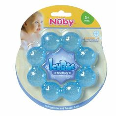 Amazon.com: Nuby Pur Ice Bite Soother Ring Teether, Colors May Vary: Toys & Games