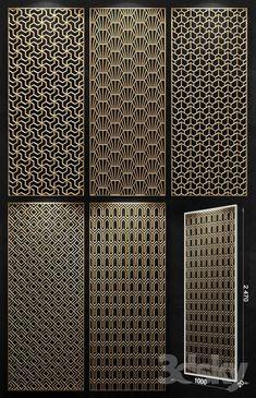 models: Other decorative objects - Decorative panel models design Grill Door Design, Gate Design, Screen Design, Facade Design, Laser Cut Screens, Laser Cut Panels, Decorative Screens, Decorative Objects, Jaali Design