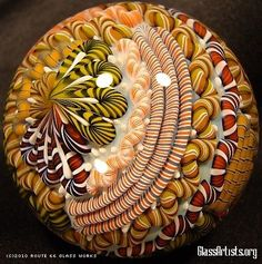A gorgeous glass marble Richard Charles Hollingshead ll, Route 66 Glass Works in Albuquerque. An inspiration for the PALLADIUM Necklace. Glass Ceramic, Mosaic Glass, Stained Glass, Art Of Glass, Marble Art, Glass Marbles, Glass Paperweights, Glass Ball, Lampwork Beads
