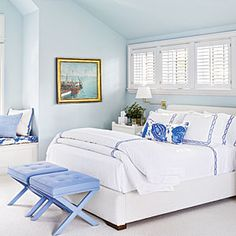 The New Classic Beach House | Periwinkle Palette | CoastalLiving.com