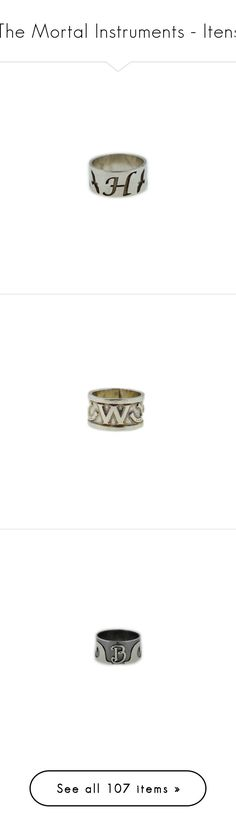 """""""The Mortal Instruments - Itens"""" by idc-baby ❤ liked on Polyvore featuring jewelry, rings, accessories, clary fray, mortal instruments, herondale, shadowhunter, silver jewelry, silver rings and silver jewellery"""
